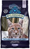 Blue Buffalo Wilderness High Protein Grain Free, Natural Mature Dry Cat Food,...