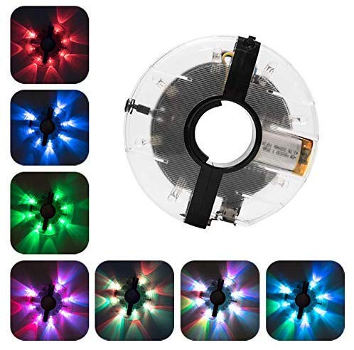 2 Stück Fahrrad-Radlichter - LED Wasserdicht 7 Farben Fahrradfelgenlichter Fahrrad-Speichenlichter Radnabenlicht mit 18 Bildern für MTB-Radreifen Nachtfahrten Fahrrad Zubehör Beleuchtung