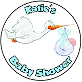 Decoración para tarta para baby shower, redondo, círculo, 20 cm, diseño azul