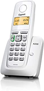 Gigaset A220 Cordless Phone with 18 Hrs Talk Time,200 Hrs Standby,50M Indoor & 300M Outdoor Range,Speakerphone,80 Contact ...