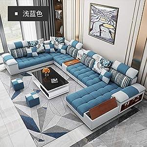 Winpavo Sofá Conjunto De Sofás Sofá De La Esquina Sofá Modular Juego De Sofás De Sala De Estar En Forma De U Sofá De Tela-C