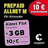 congstar Prepaid Allnet M Paket [SIM, Micro-SIM und