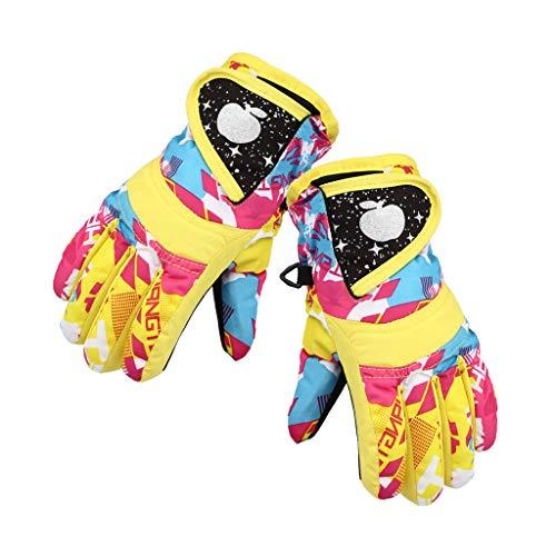 Snowboard Gloves -Aisumi-Waterproof Winter Skifahren Snowboardhandschuhe Warme Handschuhe Für Kinder Vollfingerhandschuhe Strap Für Sport, Skifahren, Radfahren