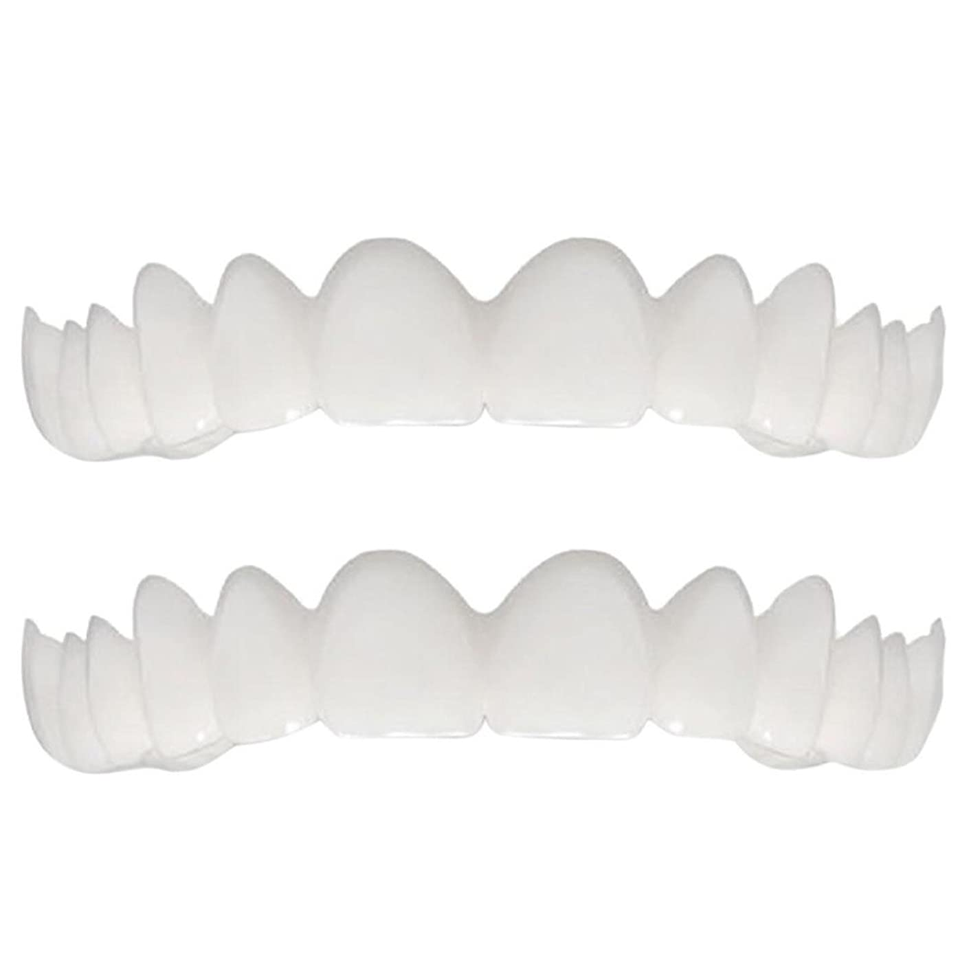 柔らかい歯の総義歯と合うシリコーンのシミュレーションの上下の総義歯(5セット),Opp