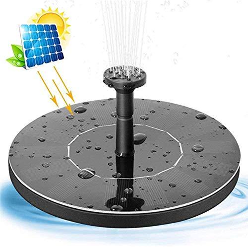 LEJIA Bomba Fuente Solar, 1.4W Círculo Jardín Solar Bomba de Agua de energía Solar de la Bomba de Agua, Bomba Flotante Fuente por Birdbaths o estanques