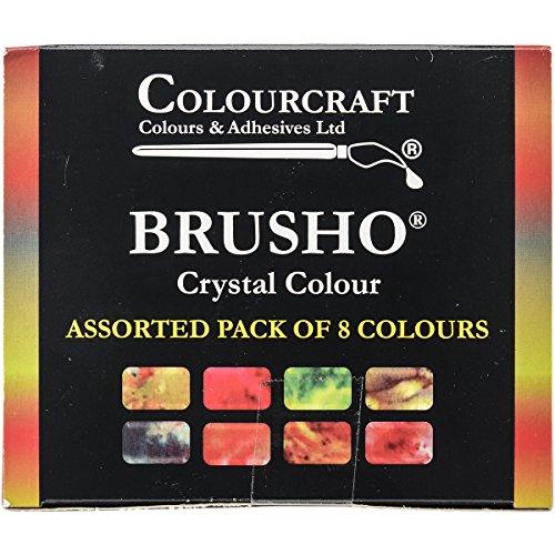 PanPastel Brusho Crystal Colours Set 8/Pkg-Assorted Colors