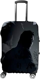 Travel Luggage Cover Suitcase Protector Fits for 18-32 Washable Baggage Covers - The-Girl with The Dra-gon Tattoo 22-24in