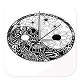 Reloj De Pared Decoracion Nostalgico Yin Yang