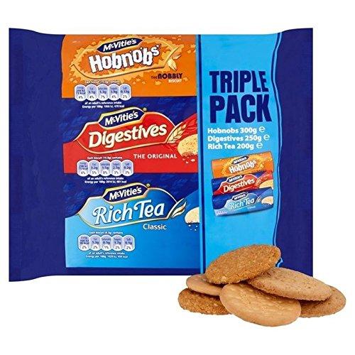 McVities Biscuits pour Paquet Triple 750G - Paquet de 6