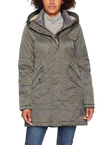 Camel Active Womenswear 310230, Abrigo para Mujer, Verde (Khaki 35), 34