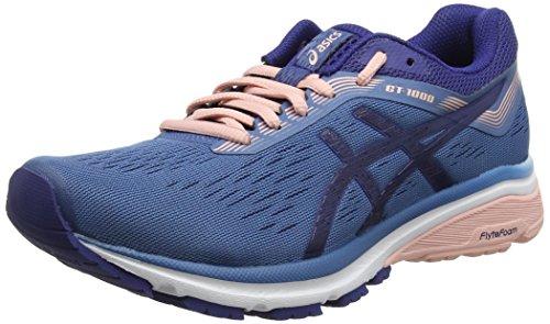 Asics Gt-1000 7, Zapatillas de Entrenamiento para Mujer, Azul (Azure/Blue Print 400), 42 EU