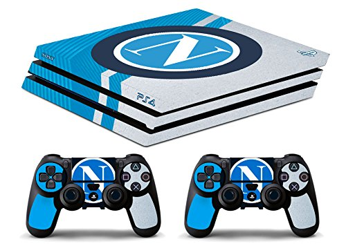 Skin Ps4 PRO - NAPOLI SCUDETTO - limited edition DECAL COVER ADESIVA Playstation 4 Slim SONY BUNDLE - VINILE LUCIDO