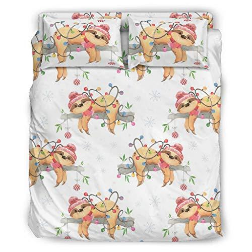 Xuanwuyi kühlend 4-teiliges Bett-Set Quilt-Set ultraweiche für Kinder & Erwachsene White 203x230cm
