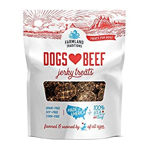 Farmland Traditions Filler Free Dogs Love Beef Premium Jerky Treats for Dogs (2.5 lbs.)