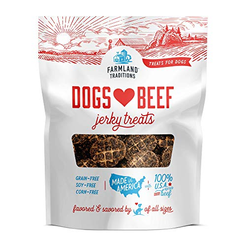 Farmland Traditions Filler Free Dogs Love Beef Premium Jerky Treats for Dogs, 2.5 lbs. Bag