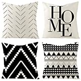 Set of 4 Decorative Throw Pillow Covers 18x18 Inch for...
