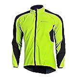 Fitsund Fahrrad Jacke Herren Fleece Langarm Winter Radjacke MTB Jacket (Grün, XXL)