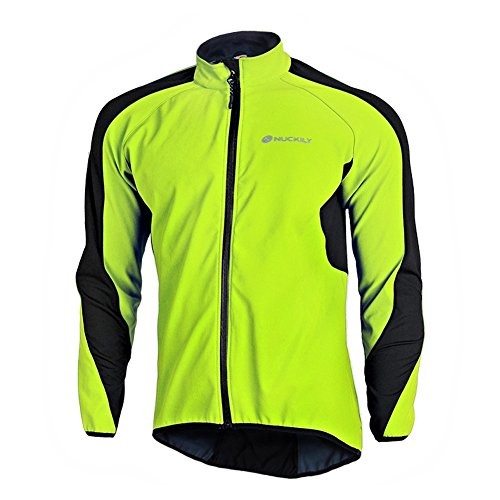 Fitsund Fahrradjacke Herren Winddicht Radjacke Thermo Langarm Mountainbike Jacket Fleece L