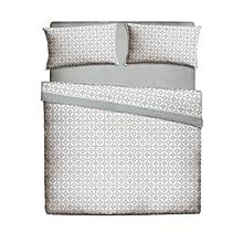 Pikolin Home, Juego de sábanas de cama 50% algodón y 50% poliéster estampadas, que incluye sábana encimera, bajera y una funda de almohada