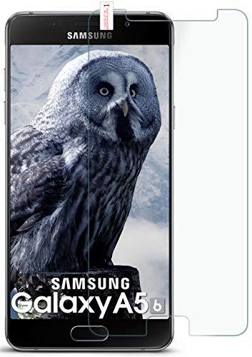 MoEx® Matte Panzerglasfolie aus 9H Echtglas passend für das Samsung Galaxy A5 (2016) | Kratzfest, Entspiegelnd + Reduziert Fingerabdrücke