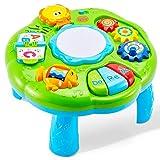 HERSITY Table d'activité Tambour Bébé Jouet Musical avec Lumières Jeux Éducatifs Cadeau pour Bébé Garçon Fille 18 Mois 1 an 2 3 Ans