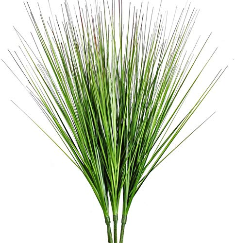 27 Artificial Plants Onion Grass Greenery Faux Fake Shrubs Plant Flowers Wheat Grass for House Home Indoor Outdoor Office Room Gardening Indoor D