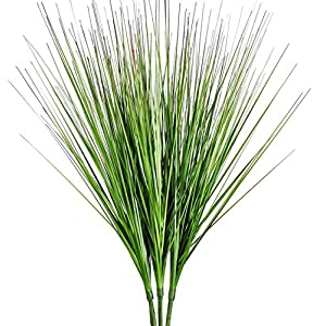 """Silk Flower Arrangements 27"""" Artificial Plants Onion Grass Greenery Faux Fake Shrubs Plant Flowers Wheat Grass for House Home Indoor Outdoor Office Room Gardening Indoor Décor 3 Pack"""