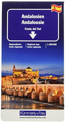 Andalusien, Costa del Sol Regionalkarte 1:200 000 (Kümmerly+Frey Reisekarten)