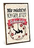 TypeStoff Cartel de madera con texto en inglés «Columpio», estilo vintage, regalo y decoración de Mir Reicht's (tamaño: 19,5 x 28,2 cm)