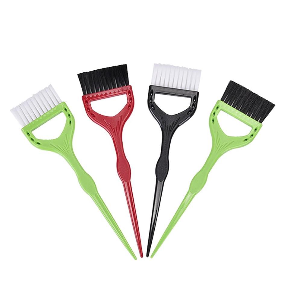 取り替える禁輸発表するWINOMO ヘアカラー ヘアダイブラシ 髪を染めたブラシ 漂白セット DIYツール(ランダムカラー)