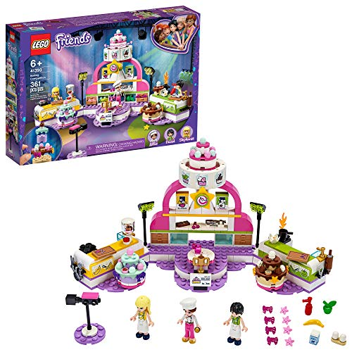 LEGO Friends Baking Competition 41393 Building Kit, Set Kids Baking Kit, Featuring 3 Friends Characters and Toy Cakes, New 2020 (361 Pieces)