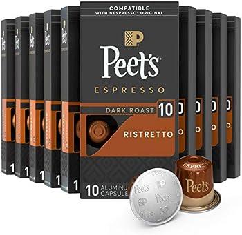 100-Count Peet's Coffee Espresso Capsules Ristretto Coffee Pods