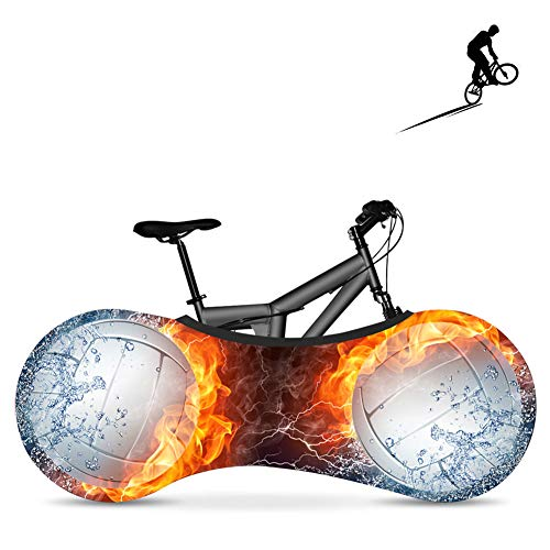 BDYD Fahrradradabdeckung, Fahrradabdeckung, staubdichte elastische Innenabdeckung, waschbar für die meisten Fahrradaufbewahrungsbeutel-Schutzabdeckungen,Ballh