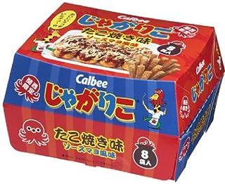 【関西限定】 カルビー (Calbee) じゃがりこ たこ焼き味 ソースマヨ風味 1箱 8袋入り
