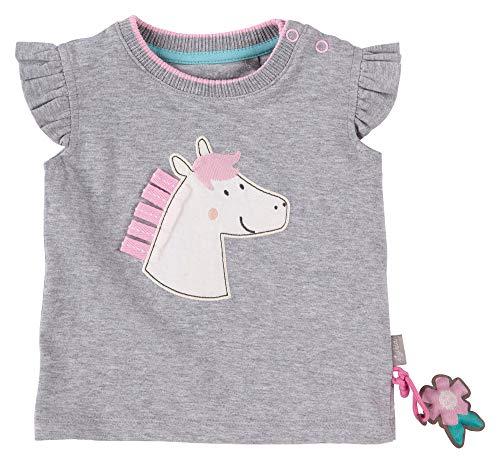 SIGIKID Baby - Mädchen T-Shirt Kurzarm aus Bio-Baumwolle, abnehmbares Hangtoy, Größe 062 - 098