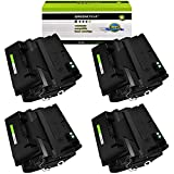 GREENCYCLE 4 Pack Black High-Yield Compatible Toner...
