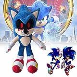 Peluche Sonic.exe de 14,6 Pulgadas, Felpa sónica Oscura y sanguinolenta, Regalo de Animales de Peluche Sonic The Hedgehog para niños, niñas o fanáticos