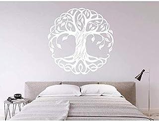 Wall Stickers Vinilo Moda ÁRbol DecoraciÓN para El Hogar ÁRbol De La Vida CÍRculo ÁRboles Arte Tatuajes De Pared HabitaciÓN Cartel Mural 57X57 cm