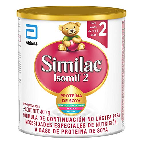 Similac Isomil Etapa 2 400gr, Fórmula Infantil no Láctea a Base de Proteína de Soya