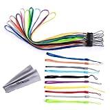 Wisdompro Paquete de 20 Piezas Coloridas Correas para muñeca/Cuello, Cuerdas para Unidades Flash USB, Llaves, llaveros, identificación, Etiqueta
