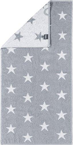 Cawö Home Handtücher Small Stars 525 Silber - 76 Handtuch 50x100 cm