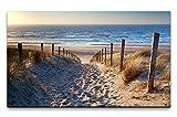 Paul Sinus Art Bilder XXL Niederlande Strand 120x70cm
