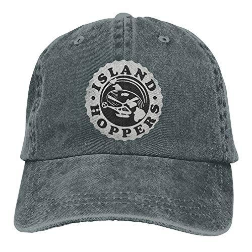 HDOLUICQR Magnum Pi Island Hoppers Casquette Baseball Cap Vintage Washed Hats Retro Adult Adjustable Cotton Cowboy Hat Denim Dad Hat Woman Trucker Caps