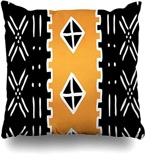 Fundas de almohada de barro Kente Tribal Rasta almohadón cuadrado sofá lindo fundas de cojín fundas de 45,7 x 45,7 cm