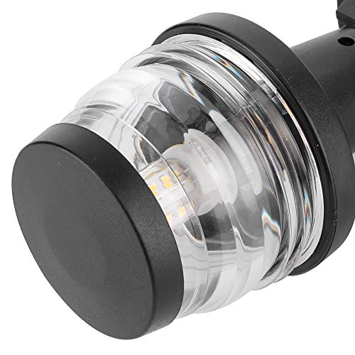 Akozon Navigation Anchor Light 124MM IP65 LED 2.5W 4in All Round 360° Stern Signal Lamp for Yachts Fishing Boats