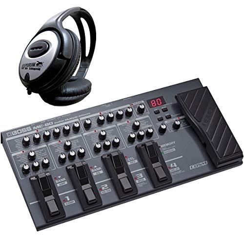 Boss ME-80 Multi-Effektgerät und Interface für Gitarre + keepdrum Kopfhörer