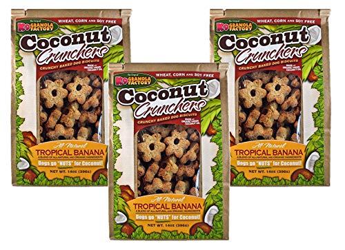 K9 Granola Factory Coconut Tropical Banana Crunchers (Pack of 3)