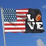 ALLdelete# Flags USA Rugby Football Américain Amoureux Pays Bannière Drapeau Jeu Drapeau Anniversaire Drapeau 3 X5 Pieds Maison Bannière