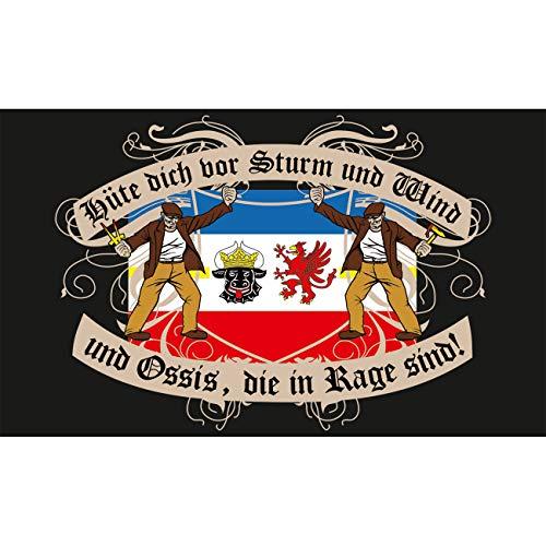 Spass kostet Fahne mit Ösen Flagge Mecklenburg Vorpommern Spruch 90 x 150 cm