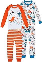 2. shelry Boys Dinosaur Pajamas Cotton Sleepwear
